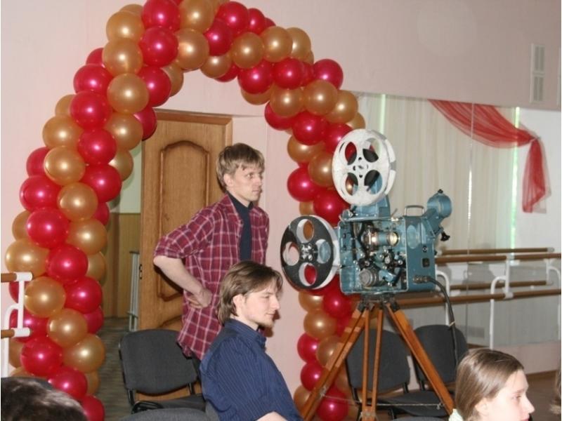 Кинофестиваль в школе №544.Человек с киноаппаратом - наши дни.